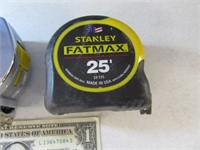 FatMax 25' & Stanley 30' Tape Measure Tools EXC