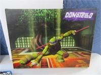Lot (4) TMNT NinjaTurtle Lightup 12x16 Art Decor