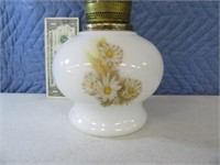 "Alladin 20"" Oil Lamp w/ MilkGlass Base EXC"