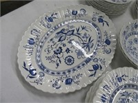 Lot (30+) Pcs Blue/White England Dishes NICE