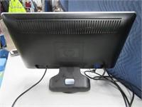 "HP 20"" Flatscreen Computer Monitor Working"
