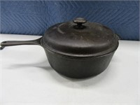 "Cast Iron 10.5"" Handled Oven w/ Lid USA"