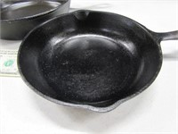 "Lot (2) USA Cast Iron Skillets 7"" & 8"""