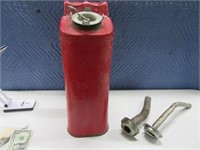 5gal Metal US Gas Can w/ Two Spouts Red