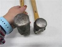"Lot (2) Hand 15"" Sledge Hammer Tools NameBrand"