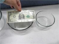 3pc PYREX Glass Storage Bowl Set w/ LIds