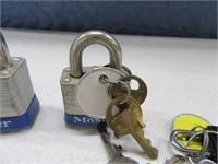 Lot (5+) Padlocks & Asst Locks w/ Keys