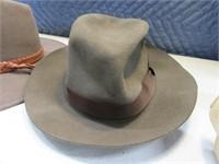 Lot (3) Men's 7 3/8 Felt Austrailian Hats