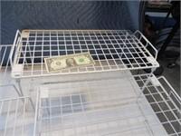 "Lot (4) 18"" Metal Interior Cabinet Shelf Orgnanizr"