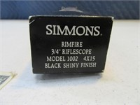 "Simmons 3/4"" RifleScope 4x15 Model1002"