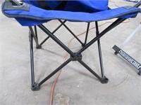 "Folding Camp Chair + Fancy 24"" Folding Table"