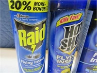 Lot (4) Cans Bug RAID Killer Aerosol Spray