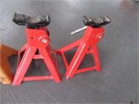 Lot (2) Sets 3Ton Jack Stands Automotive Tools
