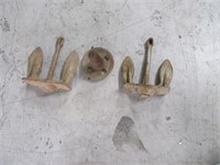 Lot (3) Boat Anchors