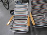 Lot (2) Aluminum Pool~Low Rise Folding Chairs