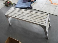 "Werner 39.5"" Aluminum Folding Bench Work Scaffold"