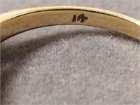 14k gold single pearl ring