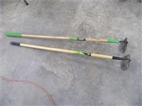 Lot (2) Nice AMES Hoes Yard Tools EXC