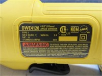 "DeWalt 4.5"" Electric Angle Grinder Tool EXC"
