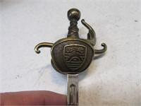 "Ornate 8"" Brass Sword Letter Opener Unique"