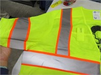 Lot (2) New L/XL Yellow Reflective Safety  Vests