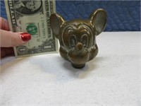 "Vintage  Bronzed 2"" Mickey Mouse Disney  Head"