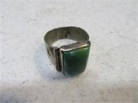 Pawn~Turquoise sz10 Large Stone Ring Jewelry