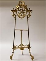 Ornate brass display easel
