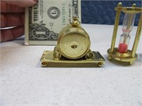 5pc Lot Brass Miniature Doll House or Display