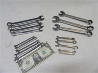 Lot (15) USA Asst Hand Wrenches Tools