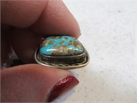 Vintage Pawn Silver Turquoise Tie Tack Holder