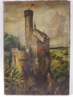 Oil on canvas Lichtenstein Castle