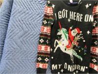 """Ugly """"M"""" Xmas Sweater I GOT HERE ON MY UNICORN"""
