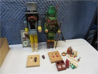 """Lot (2) German 16"""" Nutcrackers Project~Parts AS IS"""