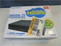 New APEX Digital TV Converter Box Sealed 2/3