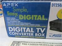 New APEX Digital TV Converter Box Sealed 3/3