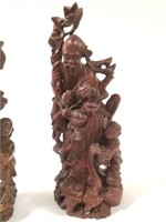 2 Chinese Rosewood statues
