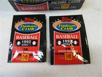 34Packs 1992 Stadium Club Baseball Cards  SEALED