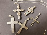 Lot of native american and religious jewelry