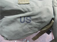 Lot (2) Classic Canvas Miltary Carry Bags