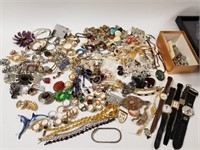 Huge lot of jewelry and watches