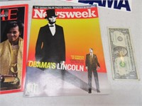 Lot (7) OBAMA Magazines & Collectibles