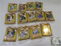 Lot (13) Sealed Packs Baseball Sports Cards