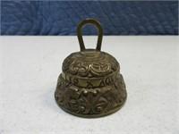 "Vintage 2"" Embossed Brass Bell"
