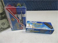 New 9pack EXPO Pens + Erasers