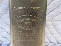 """5.5"""" Jack Daniels Leather Embossed Pocket Flask"""