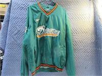 """Miami Dolphins """"L"""" Reebok Proline Windbreaker"""