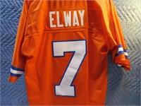 "Broncos ELWAY 7 Reebok ""M"" Throwback Jersey EXC"