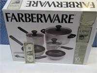 New FARBERWARE 10pc Cookware Set