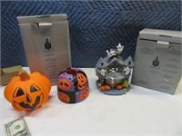 Lot (2) PartyLite & Halloween Decor